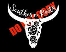 SOUTHERN ROOTS STEER BULL STICKER DECAL CAR TRUCK SUV LAPTOP CUTE SOUTHERN PRIDE