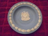 Wedgwood Jasperware Jasper Ware Blue 4 1/2 Inch Newcastle Round Plate Tray EUC!