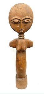Große Statuette Ashanti - Afrika - Puppe Von Fruchtbarkeit