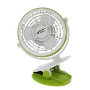 """Comfort Zone CZBT4GN Fan 4"""" Usb Desk Clip Fan, Green"""