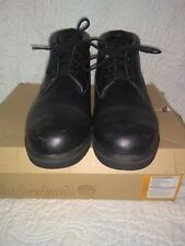 Mens Timberland Chukka 50059 Black Smooth Leather Waterproof Boots size 8.5 M