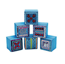 10x Job Lot Girls Turquoise Jewellery Trinket Boxes DE-T1 Gift Party Bag By Katz