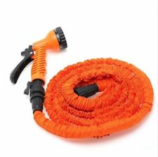 Latex 25FT Expanding Flexible Garden Water Hose with Spray Nozzle  L