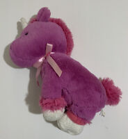 "Animal Adventure Unicorn Plush Purple Pink 11"" Stuffed Animal Toy Soft Glitter"