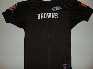 BLANK NFL Cleveland Browns Jersey Mens Large Football CLASSIC SLEEVES NEW NWT **