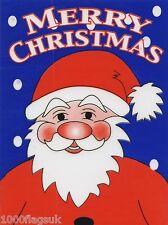 Christmas Cling On Vinyl Car Window Sticker - Father Christmas Santa Claus cc4