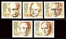 Germany Bund BRD 1982 Mi 1156/60 ** Präsidenten Presidents Heuss Lübke Scheel