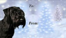 Giant Schnauzer Christmas Labels by Starprint - No 2