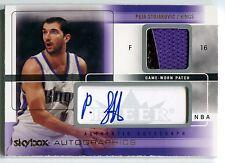 2004-05 Skybox Autographics PEJA STOJAKOVIC Auto Jersey Patch Rare SP #1/10