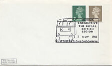 (32597) Gioco GB copertura Euston ROYAL BRITISH LEGION LOCOMOTIVA 2 nov1981