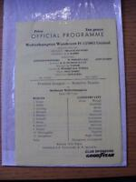 12/09/1991 Wolverhampton Wanderers Reserves v Coventry City Reserves  (4 Pages)