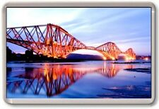 FRIDGE MAGNET - FORTH BRIDGE - Large Jumbo - UK Scotland (Lights)