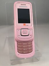SAMSUNG ORANGE E1360 MOBILE PHONE - OLD BUT IN GREAT CONDITION - NO LEAD - PINK