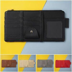 Car Styling Visor Organizer 5 Color Leather Sunglasses Card Ticket Pocket Holder