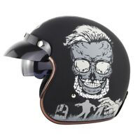 DOT Motorcycle Open Half Face Helmet Motobike 3/4 Scooter Bike Vintage Helmets