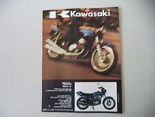 advertising Pubblicità 1972 MOTO KAWASAKI 750 H2 MACH IV