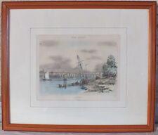 gravure litho lithographie port Bordeaux Guienne Monumentale Andiran Lemercier