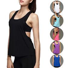 Nueva Camiseta de mujer sin mangas Prendas para el torso elastika Racerback Entrenamiento Suelto Sin Mangas Multicolor