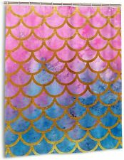 Fabric Shower Curtain Mermaid for Bathroom Decor Waterproof Polyester Curtains