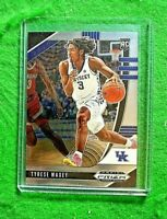 TYRESE MAXEY PRIZM SILVER CHROME ROOKIE CARD JERSEY #3 KENTUCKY RC 76ERS 2020 RC