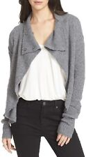 NEW FREE PEOPLE Cascade Sweater Drapey Cardigan  Nylon Wool Slate XS $128