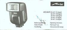 Metz Mecablitz 24 AF-1 Digital Original Instruction Book