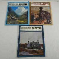 Narrow Gauge And Short Line Gazzette Lot Of 3 1991 Modelbuilding Magazines