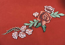 Designer Rose Embroidered Flower Applique 3431-Z