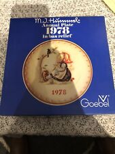 """Lot Of 6 """"Hummel"""" Annual """"Bas Relief"""" Plates Years 1972-1978 (73 Missing) Boxed!"""
