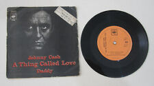 JOHNNY CASH A Thing Called Love RARE ! ISRAELI 7' PS 1972 Hebrew Print Sleeve