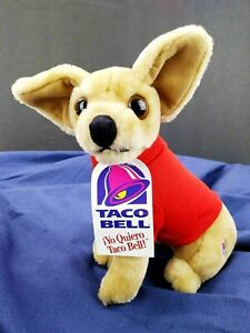 Taco Bell Dog Chihuahua Plush Vintage New Tag Yo Quiero 1998 Rare Red Shirt 8""
