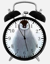 "Cute Baby Penguin Alarm Desk Clock 3.75"" Home or Office Decor E207 Nice For Gift"