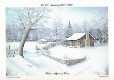 Winter at Granny's Place by Fred Thrasher   Signed by Fred , 5X7