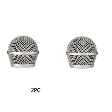2 PCS Replacement Ball Head Mesh Microphone Grille for Shure PG48/PG58