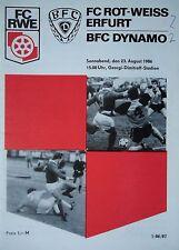 Programm 1986/87 FC Rot Weiss Erfurt - BFC Dynamo