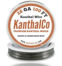 26 Gauge AWG Kanthal Wire A1 Round 100ft Roll 0.40mm 3.21 ohms/ft. Resistance