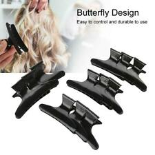 Pack of 12 Hairdresser Clamps Hair Claw Clip Grip Black Ladies Clips MR