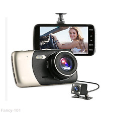 4.0'' Full HD 1080P Dual Lens Car Dash Cam Recorder Rearview Camera Night Vision