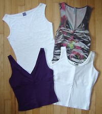 LOT (4 pc) Women's Mixed Stretch Fitted Tank Tops (S) Express, A'nue, Last Tango