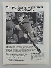 1962 Marlin Firearms 336-C Deer Rifle Scope Hunter Prey Vtg Magazine Print Ad