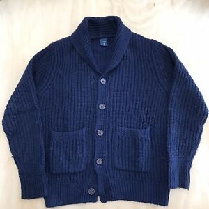 Boy's Gap CHONKY Shawl Neck Knit Cardigan size M (8)