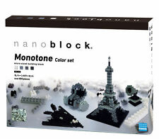 NANOBLOCK Freebuild Monotone Set Nano Block MicroSized Building Blocks NB015