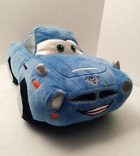 "Disney Store Pixar Cars 2 Movie 13"" Blue Finn McMissile Car Plush Stuffed Toy"