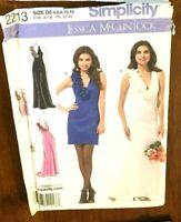 Simplicity 2213 Miss Evening Wed Formal Dress Sz 4-12 Jessica McClintock Pattern