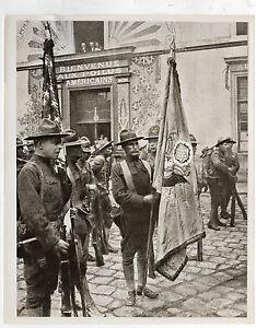Soldats Américains 4 JUILLET 1917 Documents Ambassade Etats Unis