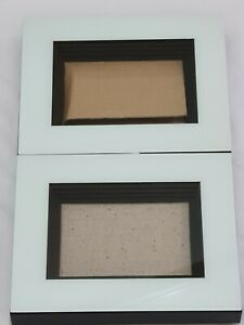 2x 3D Deep Box Glass White Frame Rectangle Picture Photo Craft Art Medal Display