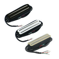 Mini Humbucker Dual Hot Rail Pickup Ceramic 4-Wire Low Noise for Electric Guitar