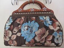 Isabella Fiore Womens Handbag Multi Color Floral Animal Print Embellished Tote