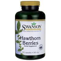 Swanson - Aubépine Baies, 565mg - 250 Capuchons Supports Sain Sang Lipid Niveau
