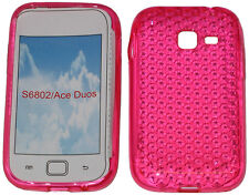 For Samsung Galaxy Ace Duos GT S6802 Pattern Soft Gel Case Protector Cover Pink